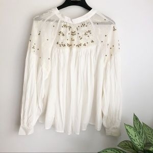 Free People have it my way top ivory size medium
